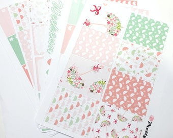 Rainie Erin Condren Planner Stickers Weekly Kit Stickers Umbrella glossy or matte stickers