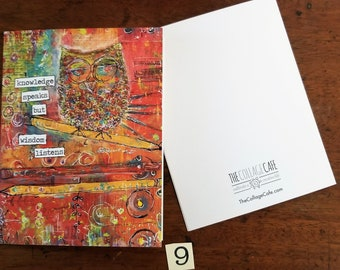 Happy Mail Mixed Media Abstract Art Note Cards No. 9