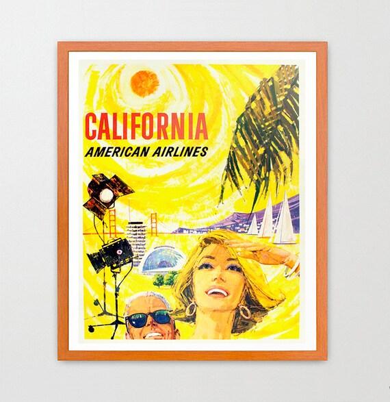 California - California Poster - California Travel Poster - Vintage California - Los Angeles - Los Angeles Poster - Los Angeles Art - Travel