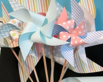 Table Centerpiece Birthday Party Favors Baby Shower Favors Birthday Decoration Wedding Favors Wedding Decoration Table Decor Paper Pinwheels