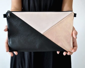 Leather Clutch, Handbag, Evening Clutch, Cross-body Bag, Leather Handbag