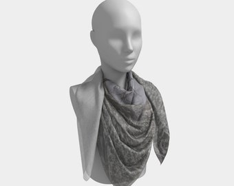 Frosted Western Scarf