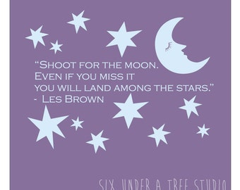 Shoot for the Moon Wall Vinyl Decals Art Graphics Stickers