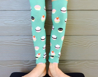 Cupcake Leg and Arm Warmers - Leggings for Infant, Baby, Toddler, Kid, Tween - Fun Birthday or Baby Shower Gift for Boys or Girls