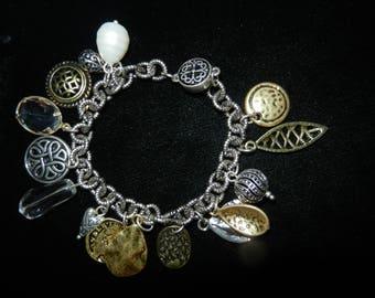 Charm Bracelet Silver Finish