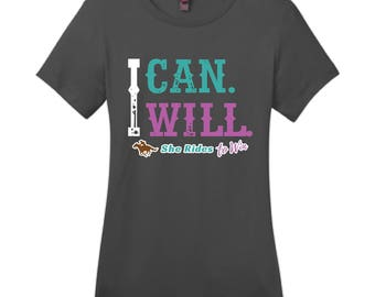 I CAN. I WILL T-shirt in charcoal gray