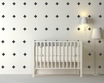 White Cross Vinyl Wall Stickers Nursery Decal Pattern