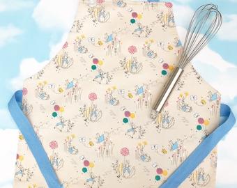 Peter Rabbit cooking apron, childs apron, baking apron, kids apron