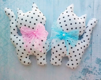 Textile kittens for decor (twins), toy decor