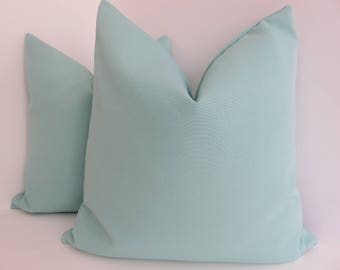 Teal Outdoor/Intoodr Pillow Covers- Turquoise Pillow Covers- Outdoor Pillows- Outdoor Turquoise Pillows- Aqua Oudoor Pillows- Teal Outdoor