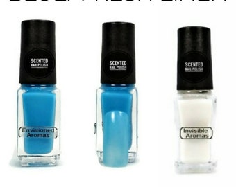 Two if by Scent Collection Blue/Fresh Linen Scented Nail Polish