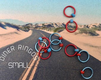 knitting, stitch markers, ring markers, ringos, stitch markers SMALL DINER
