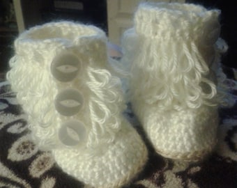 Loopy Booties for Newborn up to 24 months.
