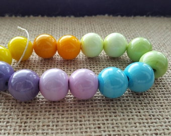 Handmade Lampwork Beads by SweetpeasGlassDesign - Lampwork Glass Beads - Summer Pastels