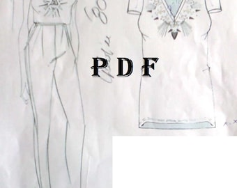 PDF Sewing Pattern for Blouse, Personalized for Custom Size, Women Clothing, Digital Pattern PDF Sewing Pattern by Style Adi