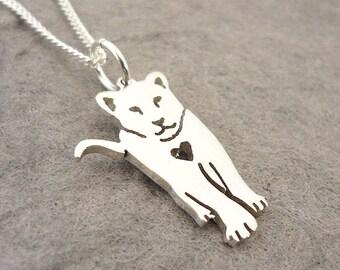 Lion Cub Sterling Silver Handmade Pendant