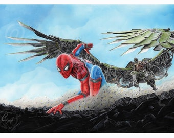 Spiderman vs vulture (original)