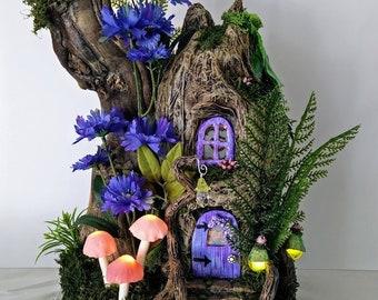 Fairy House, Handmade, One of a Kind, Fairy Garden House, Fairy Cottage. Gnome House, Elf House