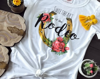 Sweetheart of the Rodeo - women's graphic tee - western graphic tee - rode shirt - western shirt - cowgirl shirt - quote shirt