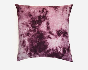 Sale! Magenta Tea Stain Tie Dye Pillow Cover | Various Sizes