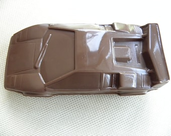 Sports car chocolate treat, chocolate filled sports car, race car chocolate, car chocolate, sports car, automobile chocolate, car candy, car