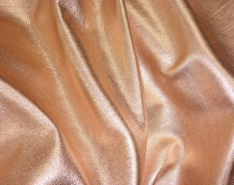 ROSE GOLD Pebbled Metallic 3 or 4 or 5 or 6 sq ft SOFT cowhide shows grain Leather 3-3.25oz/1.2-1.3mm PeggySueAlso™ E4100-01 Full Hides Too