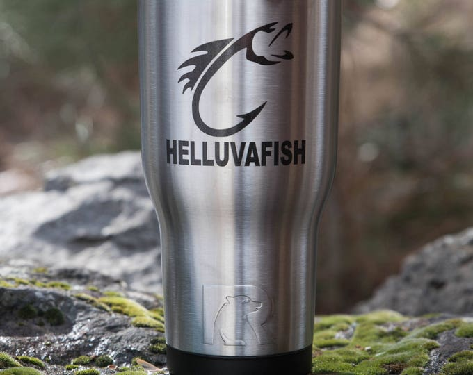 Personalized Tumbler Gift for HIM// RTIC Tumbler // Gift for Fisher Man// Gift for Dad // Fishing Tumbler / Dad Mug // Custom Tumbler