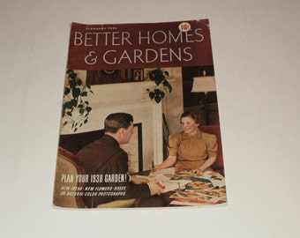 Vintage Better Homes and Gardens Magazine February 1938  Scrapbooking - Paper Ephemera - Vintage Ads