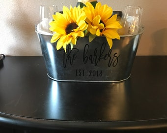 Personalized Mimosa Bucket