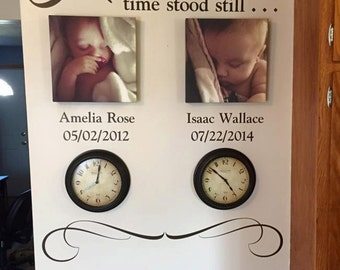 In these moments time stood still Photo Picture wall Vinyl Wall Decal sticker lettering, Up to 3 Date and name included, HH2145