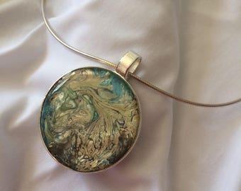 Medallion 6.2 cm individually blue ochre, etc.