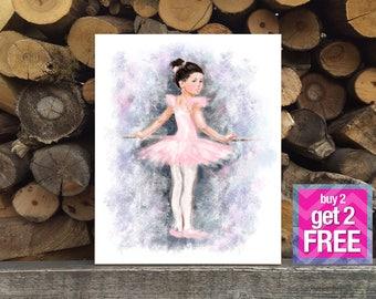 Little Ballerina Print, ballerina Art, Ballerina Oil painting,  Modern Art, Ballet Wall Decor, ballerina print, Ballerina artwork, Modern