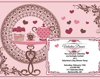 valentine dinner valentine dinner invitation valentines invitation valentines day dinner invitation dinner party couples invitation