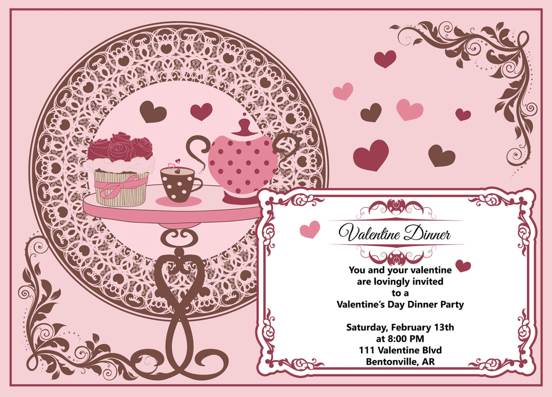 Valentine Dinner Valentine dinner invitation Valentines