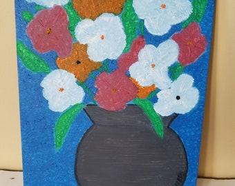 Sunday Violet Pot,  Original Oil Painting, 9 x 12