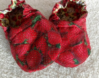 Strawberry Patch Reversible Baby Girl Shoes