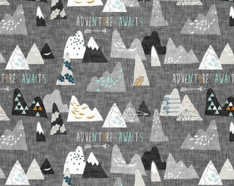 Adventure Awaits Crib Sheet ~ Nursery Bedding ~ Fitted Crib Sheet ~ Baby Bedding ~ Outdoor Crib Sheet ~ Crib Bedding ~ Woodland Bedding