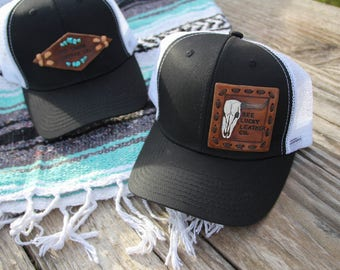 MADE TO ORDER Leather Patched Hat
