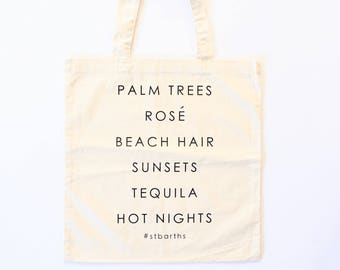 St. Barths Bachelorette and Wedding totes