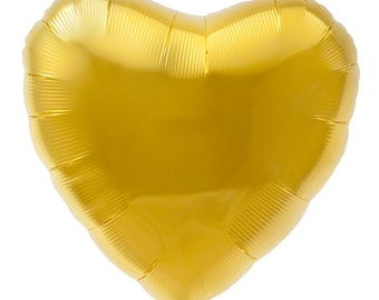 "18"" foil mylar heart balloon- Gold"