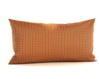 Lumbar Pillow Cover Orange Stripe Upholstery Fabric Decorative Pillow Oblong Throw Pillow Cover 12x24 12x21 12x18 12x16 10x20