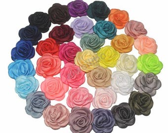 Fabric Flower, Wholesale Flower,Headband Flower, Flower Embellishment, DIY Flower H100075