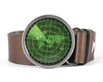 Radar screen Belt Buckle, Military Belt Buckle, Army Belt Buckle, Aviation Belt Buckle, gift for him, men's belt buckle