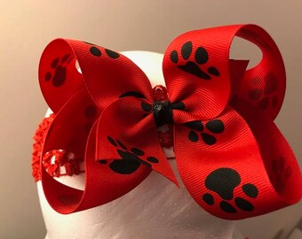 Dawg Paw Red Hairbow