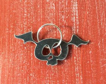Flying Skull Keychain