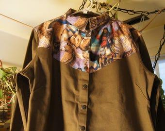 cowboy woman blouse