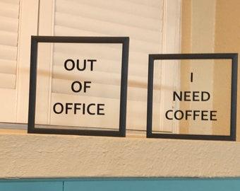 Framed Acrylic Signs