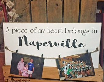 New Home Gift, Moving Gift, Hanging Photo Display, Custom State, Personalized Moving Gift, Hometown, Going Away Gift, Custom Moving Gift