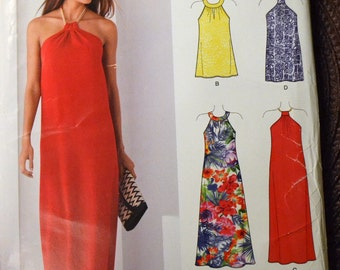 Sewing Pattern New Look 6372 Misses Evening Dress  Bust 30-40 inches UNCUT Complete
