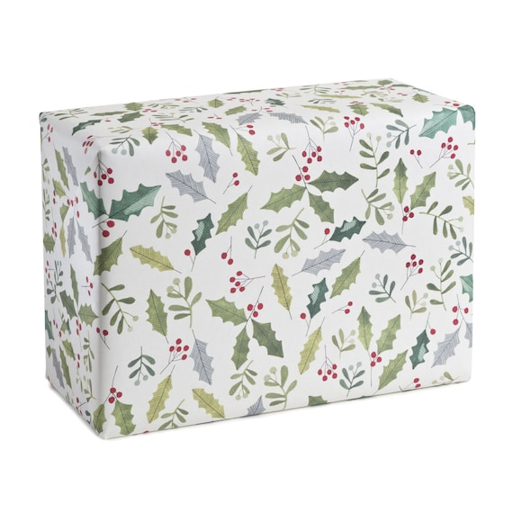 MISTLETOE. Christmas wrapping paper. Mistletoe. Holly. Traditional. For family, for friends, for customers, for clients